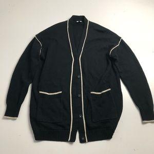 Cabi Knit Cardigan Rayon Black Sweater Medium